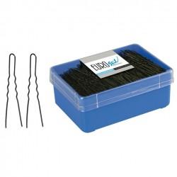 Caja 400 Horquillas Invisibles Negra