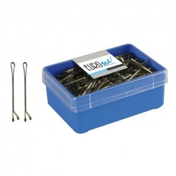 Caja 300 Clips Bola Bronce Eurostil 50mm