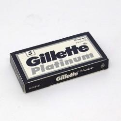 Cuchillas Gillette Platinum doble filo 5
