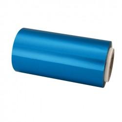 Rollo papel aluminio azul 125 m 13 cm