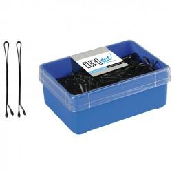 Caja 300 Clips Bola Negro Eurostil 50 mm