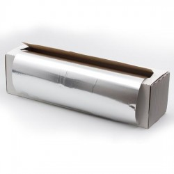 Papel aluminio plata 30 cm X 300 metros